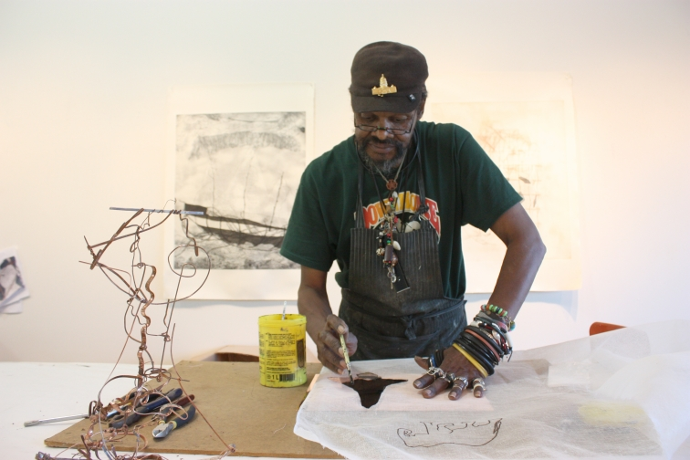 Lonnie Holley at Paulson Bott Press.